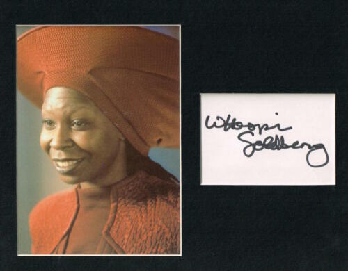 WHOOPI GOLDBERG MATTED AUTOGRAPH