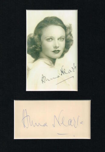 ANNA NEAGLE  MATTED AUTOGRAPH 2 SIGNATURES