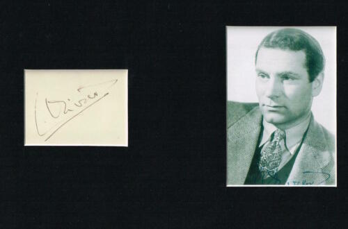 LAURENCE OLIVIER OM MATTED AUTOGRAPH TWO SIGNATURES