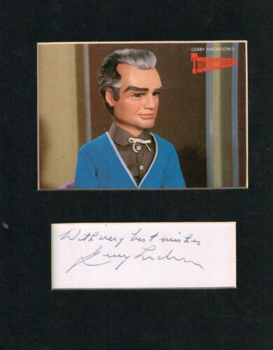 GERRY ANDERSON  MATTED AUTOGRAPH THUNDERBIRDS