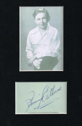 JIMMY CLITHEROE MATTED AUTOGRAPH