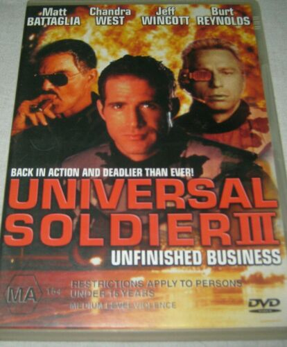 Universal Soldier 3 - Unfinished Business DVD - RARE