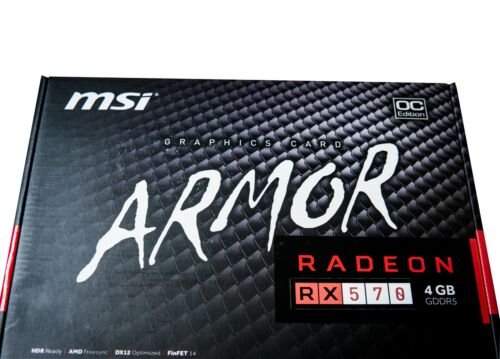 MSI AMD Radeon RX 570 ARMOR 4G OC Graphic Card for Gaming