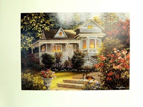 COUNTRY HOUSE PICTURE COLLIE DOG NICKY BOEHME PRINT 16X20