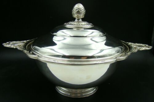 French Christofle Silver Plated Large Soup Tureen Louis XVI Pristine Conditions!