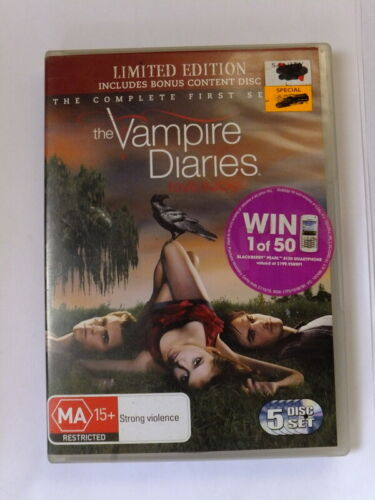 Vampire Diaries : Season 1 (DVD, 2010, 5-Disc Set) Limited edition.