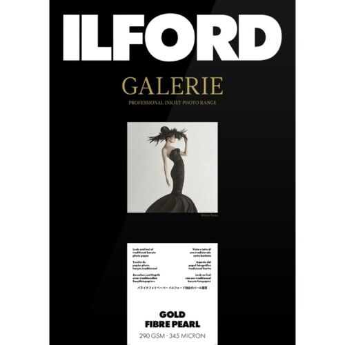 Ilford Galerie Gold Fibre Pearl 290 GSM A2 (42 cm x 59.4 cm) 50 Sheets