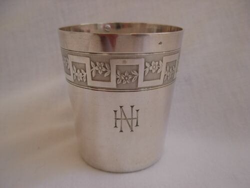 ANTIQUE FRENCH SOLID SILVER GOBLET.