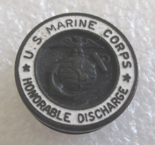 Vintage U.S. United States Marine Corps Honorable Discharge Lapel Pin WWII EraMarine Corps - 66531
