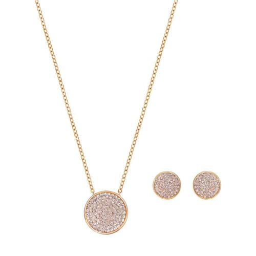 Authentic Swarovski Fun Rose Gold Plated Earrings and Necklace Set