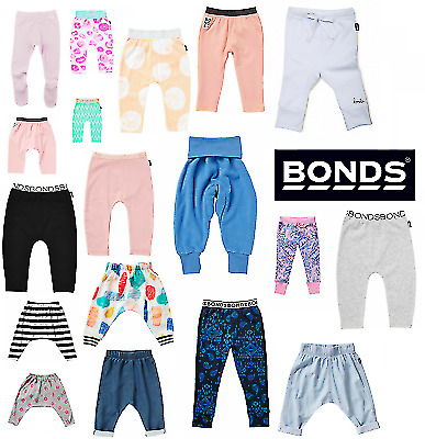BONDS BABY LEGGINGS / PANTS Bottoms Toddler Tracksuits Trousers Girls Boys