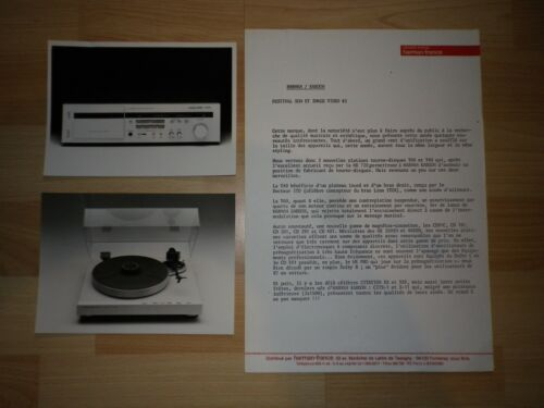 LOT rare photos HARMAN KARDON de 1983