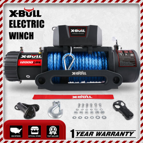 X-BULL Electric Winch 13000lbs 12V  With Remote Control Truck Jeep Truck