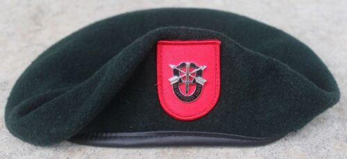 Authentic New US Army 7th Special Forces Group Green Beret, US Government IssueOther Militaria - 135