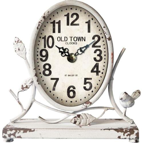 French Provincial Oval Table Clock Vintage Country Bedside Desktop Analogue 23cm