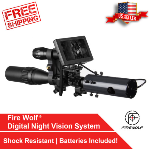 Infrared Night Vision System Rifle Scope Hunting Sight 850nm LED IR Camera DIYRifle Scopes - 31714