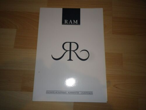 catalogue RAM 1992