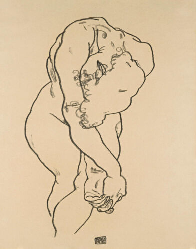 Egon Schiele Woman With Head Bowed And Crossed Hands Print 11 x 14   #3877