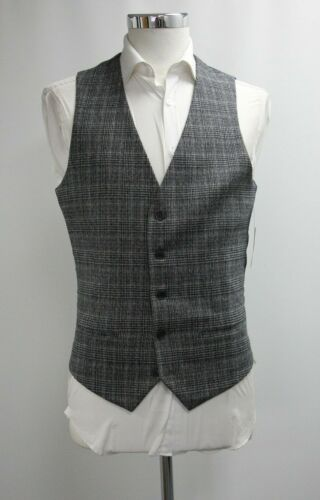Men's River Island Tailored Fit Black & Grey Waistcoat (40R).. Ref: 7306