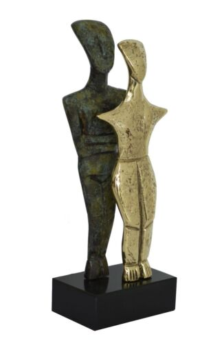 Bronze Cycladic twin idol - Abstract Modern Art - Simplicity - Aegean culture