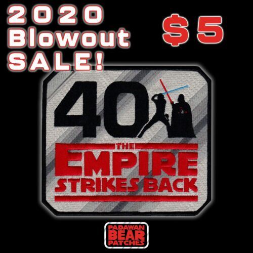 """Sale!! STAR WARS""""The EMPIRE STRIKES BACK"""" 40th Anniversary 5 inch iron-on patch"""