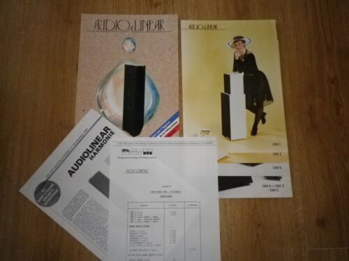 lot de 4 fiches et 1 catalogue AUDIOLINEAR