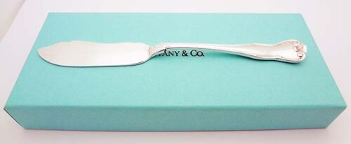 "Estate Tiffany & Co. Provence 5-7/8"" Butter Spreader in Sterling Silver"