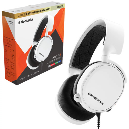 Steelseries Arctis 3 White Wired Gaming Headset NEW