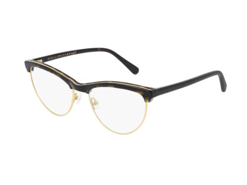 Stella McCartney Occhiali da Vista SC0219O  001 Havana Cat Eye Autentici