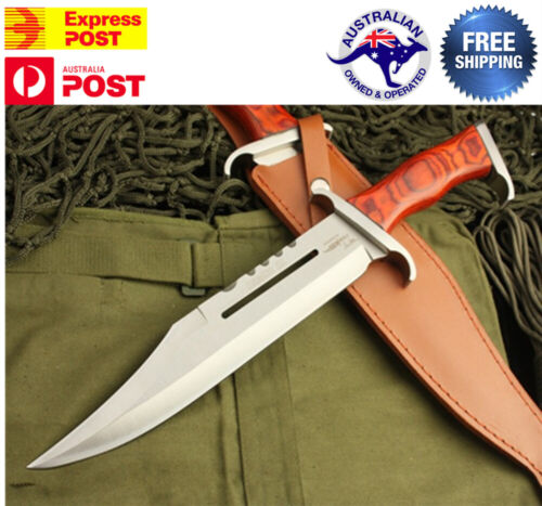First Blood III Rambo Stallone Hunting Knife Bowie Military Combat SurvivalKnives - 42574