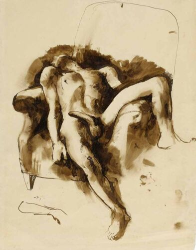 Pavel Tchelitchew Nude In A Chair Print 11 x 14     # 5079