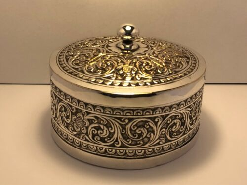 Antique Burmese Solid Silver Bowel with Lid 216 grams