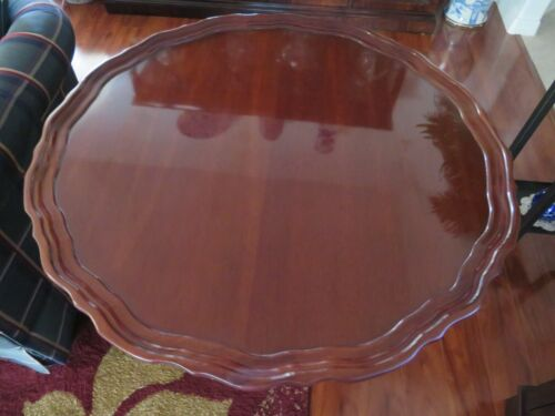 "HICKORY CHAIR SOLID MAHOGANY PIE CRUST TILT TOP TABLE  30"" Diameter"