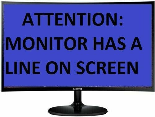 """SAMSUNG 24"""" WIDE PREMIUM CURVED LED MONITOR MODEL C24F390FHE- LINE ON SCREEN"""