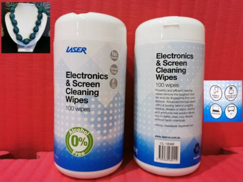 Laser WIPES - mobile Computer electronics Screens 100 wipes +brand new jewelley