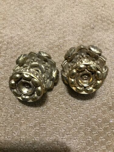 RARE 18/19th Century FLORAL FEDERAL/REGENCY Period Original Gilded Pulls!