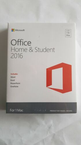 Microsoft Office Mac Home Student 2016  Brand new in Sealed Pack
