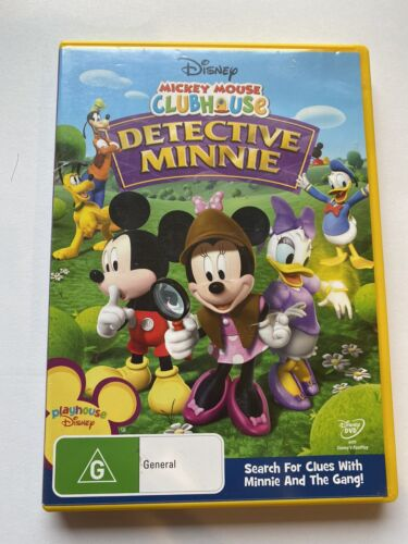 Mickey Mouse Clubhouse DETECTIVE MINNIE DVD in VGC