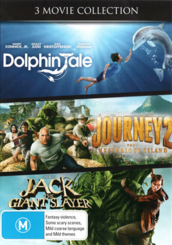 Dolphin Tale / Journey 2: The Mysterious Island / Jack the  - DVD (NEW & SEALED)