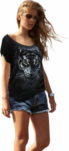 WOMENS FASHION TIGER SCOOPED NECK T-SHIRT