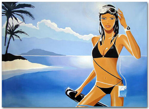 "Oil Painting on Canvas Art - ""Hed Kandi PAradise Beach""- 100% HAND PAINTED"