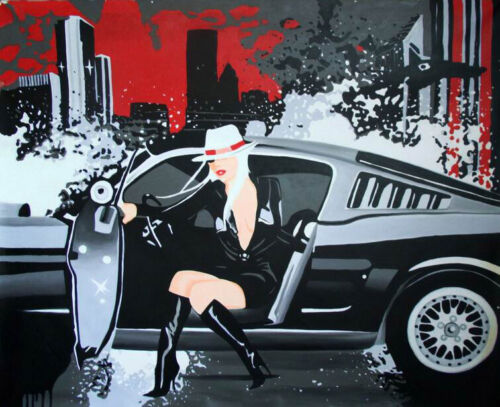 "Oil Painting on Canvas Art - ""Hed Kandi - Dodge Viper""- 100% HAND PAINTED"