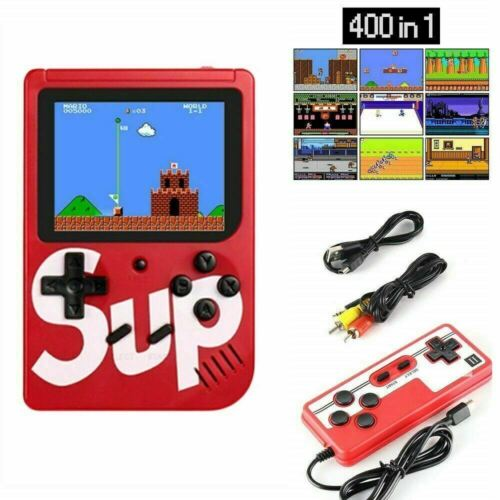 Retro Portable Handheld Game Console - Vintage Gaming Player 400 Built in games