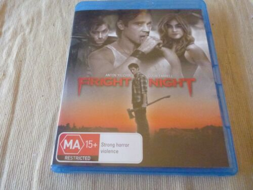 Fright Night (Blu-Ray, 2012) Region B Anton Yelchin, Colin Farrell