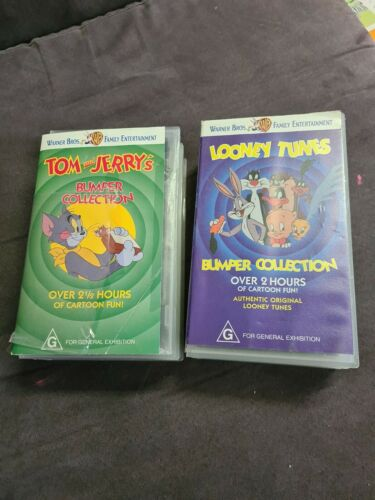 TOM and JERRY'S & Looney Tunes Bumper collection  videos 4 VHS Warner Bros