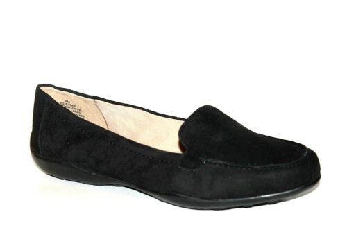 Easy Spirit E360 Ladies UK 3.5 Jeyden Black Suede Loafer Low Heel Slip On Shoes