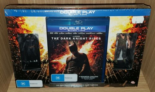 The Dark Knight Rises Blu-ray + DVD With Batman & Bane Figurines - New & Sealed