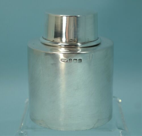 Birmingham United Kingdom Sterling Silver Traveling Lidded Tea Caddy Circa 1901