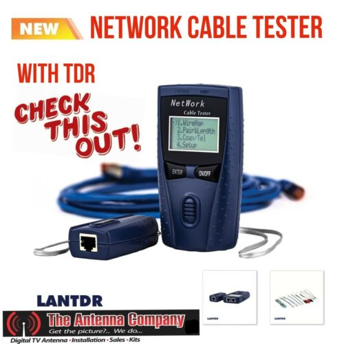 network cable tester with TDR data fault finding diagnostics tool quality LANTDR
