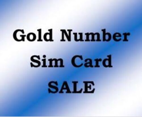 Gold Numbers for sale